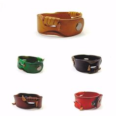 Genuine Leather Bracelet Handcrafted Lace Wrap Wristband Cuff