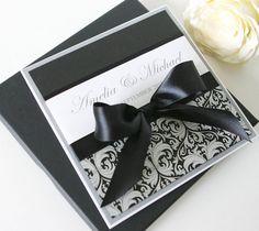 Nice black and white invitations Boxed Wedding Invitation