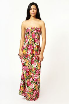 Leanne Garden Floral Bandeau #Maxi #Dress from @Susan Thomas with 7% cash back http://www.studentrate.com/all/get-all-student-deals/Boohoo-com-Student-Discounts--/0