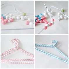 69 Ideas Diy Clothes Hanger Crafts For 2019 Best Clothes Hangers, Beads Clothes, Clothes Crafts, Hanger Crafts, Diy Accessoires, Thinking Day, Blog Deco, Wire Hangers, Plant Hangers
