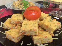 Suflê de Batata Doce com Mix de Legumes e Torta de Tomate - A12