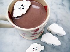 We'd all love to float away on a cloud some days, but when that's not possible, why not float away your clouds? These fun marshmallow clouds are ideal for popping in a hot chocolate for a special treat on cold wintery days!
