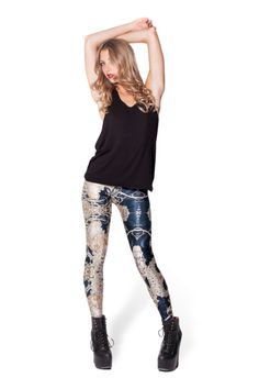Mucha Black Leggings › Black Milk Clothing