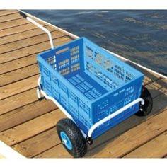 ABO GEAR COLLAPSIBLE BEACH & DOCK CART -Dock Cart Beach Cart Collapsible Aussie Walkabout Cart