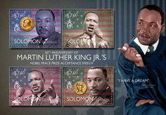 Post stamp Solomon Islands SLM 14514 a	50th anniversary of Martin Luther King Jr.'s Nobel Peace Prize Acceptance Speech (1929-1968)