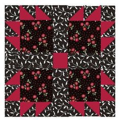 Bear Paw / Bear Claw Free Quilt Block Pattern