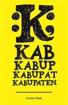 Kabupaten font by Gunarta - FontSpace