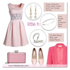 """""""little h jewelry"""" by anyasdesigns ❤ liked on Polyvore featuring Damsel in a Dress, Judith Leiber, pearljewelry and littlehjewelry"""