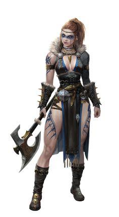 Viking Character, Female Character Design, Character Design Inspiration, Character Art, Dungeons And Dragons Characters, Dnd Characters, Fantasy Characters, Female Characters, Fantasy Art Women