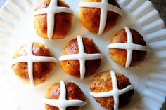 Hot Cross Buns. Her recipes are usually good and this looks like a good one. She misses completely on the symbolism and tradition of these baked goods, though, and goes straight for a secular/superstitious explanation of the history behind them.