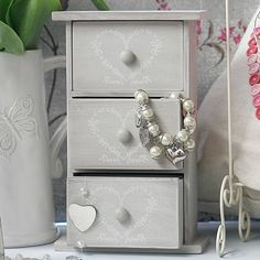 shabby chic heart jewellery box by pippins gifts & home accessories | notonthehighstreet.com
