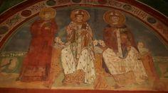 Subiaco Sacro Speco. chiesa Inferiore. Affreschi duecenteschi bizantini