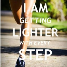 lighter with every step. #runner