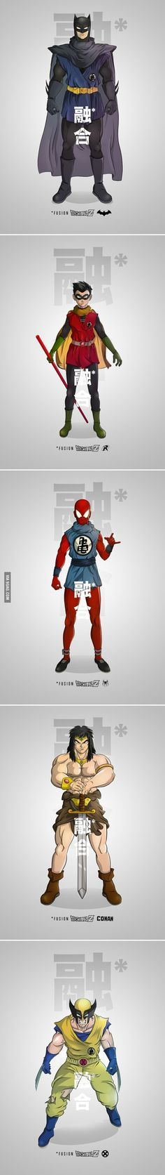 Dragon Ball Z Characters Fusion With Marvel/DC Superheroes
