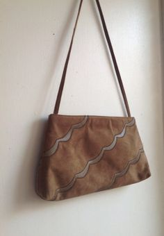 Vintage Mushroom Brown/Taupe Ultra Suede Purse with by modluv, $20.00