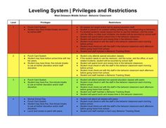 SpEd Head: Leveling System | Privileges and Restrictions
