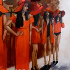 """Saatchi Art Artist Pascale Taurua;  Slikarstvo, """"omadežuje rouge"""" #art"""