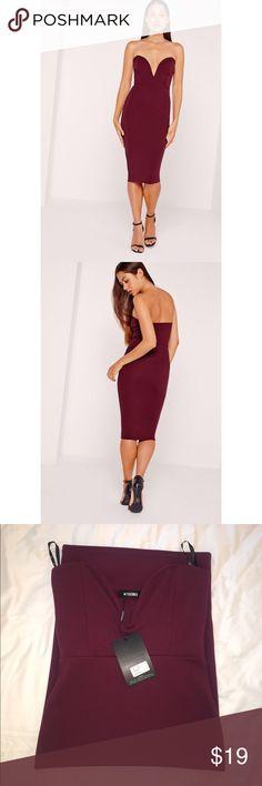 ⭐️Brand New Missguided Scuba Plunge Midi Dress⭐️ Brand New - No Faults! Missguided Dresses Midi