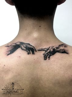 Michelangelo hands tattoo