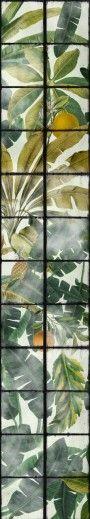 Set 3 role Tapet Imprimat Digital Orangerie #homedecor #interiordesign #inspiration #homedesign #decoration Inspirational Wallpapers, Plant Leaves, Tropical, Digital, Plants, Painting, Vintage, Interiors, Playground Kids