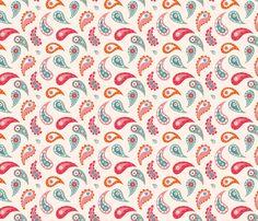 Fun bathtime for little Elley- paisleys fabric by bora on Spoonflower - custom fabric