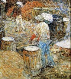 New York Hod Carriers | Frederick Childe Hassam | oil painting
