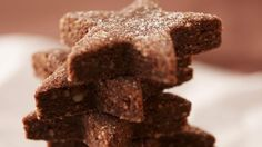 Schokoladen-Stern-Plätzchen