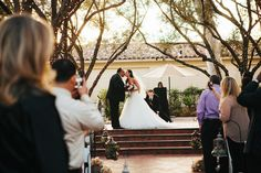 Southern California Wedding Outdoor Ceremony -Dad and Bride at Padua Hills Theatre