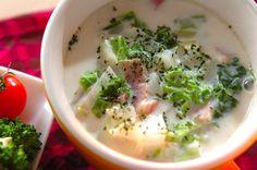 白菜のシャキシャキとした食感がおいしい! ベーコンでコクをプラスして。白菜のミルクスープ[洋食/シチュー・スープ]2012.10.29公開のレシピです。