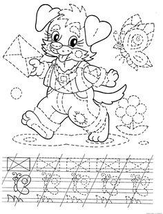 schrijfpatroon voor kleuters thema post Tracing Worksheets, Preschool Worksheets, Handwriting Sheets, Kindergarten, Occupational Therapy Activities, Grande Section, Pre Writing, Workout For Beginners, Beginner Exercise