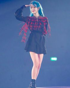 Iu Gif, Korean Celebrities, Skater Skirt, Ballet Skirt, Skirts, Poem, Concert, Heart, Fashion