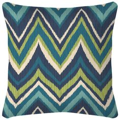 Flame Stitch UV-Protected Outdoor Decorative Pillow - lowes -
