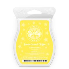 Lemon Coconut Chiffon Scentsy Bar    Melt-in-your-mouth lemon custard layered with butter cake and sprinkled with toasted coconut.