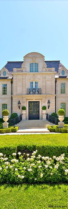 French Chateau Style Residential Estate and Formal #Garden- ♔LadyLuxury♔ #luxurygarden