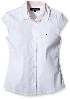 nice Tommy Hilfiger ISABELLA SHIRT S/S-Blusa Niños    blanco (CLASSIC blanco 100) 14 años
