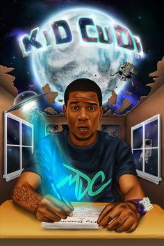 Kid Cudi: In My Dreams by on DeviantArt Kid Cudi Tattoos, Girl Arm Tattoos, Hip Hop Quotes, Rap Quotes, Lyric Quotes, Kid Cudi Wallpaper, Kid Cudi Poster, Black Panther Art, Horror Artwork
