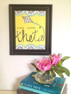 Kappa Alpha Theta Print via Etsy