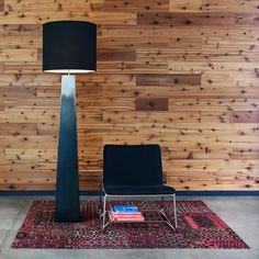 """Marlene Floor Lamp by John Beck Steel Lighting  All steel, all hand made.Hand applied solid """"wiped"""" black finish.Satin clear coat.6' cord with polarized plug.Plug chain on/off for each socket."""