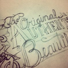 Hand-Lettering and Sketching by Brandon Paul, via Behance Hand Lettering and #Typography
