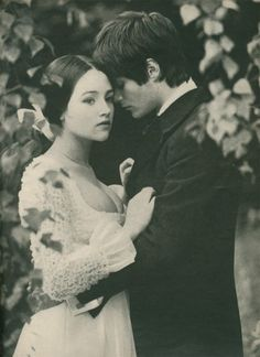 Leonard Whiting and Olivia Hussey ~  publicity shot ~ Romeo and Juliet  ~ Franco Zeffirelli ~ 1968
