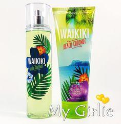 Bath and Body Works WAIKIKI BEACH COCONUT Fragrance Mist Perfume Spray & Cream #BathBodyWorks