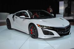 Discover our top ten highlights from the Detroit Motor Show 2016 here, including the new Mercedes-Benz E Class, Fisker Force BMW and more! 2017 Acura Nsx, Detroit Motors, Alfa Romeo Giulia, Expensive Cars, Cars And Motorcycles, Super Cars, Ferrari, Chevrolet, Toyota