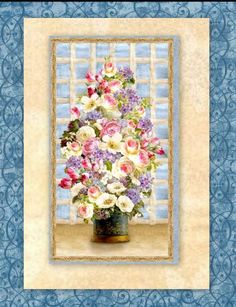 easy fabric panel quilt kit breath of spring wall quilt 32 x 50