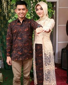 Kebaya Batik Modern Kebaya Lace, Kebaya Hijab, Batik Kebaya, Kebaya Dress, Kebaya Muslim, Batik Dress, Model Kebaya Brokat Modern, Kebaya Simple, Kebaya Wedding