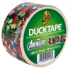 Avengers Duck Brand duct tape...my mind is about to explode with the possibilities!