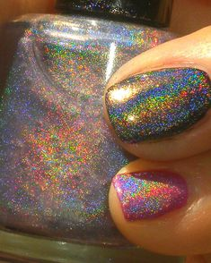 Spectraflair Holographic Nail Polish, over any color, I want!