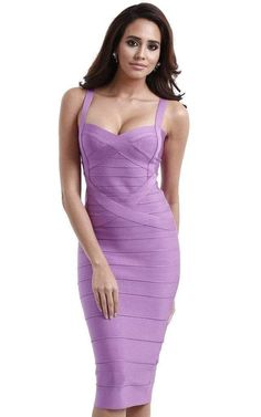 Looking for HLBandage HLBandage Midi-Calf Solid Color Spaghetti Strap Rayon Bandage Dress ? Check out our picks for the HLBandage HLBandage Midi-Calf Solid Color Spaghetti Strap Rayon Bandage Dress from the popular stores - all in one. Daytime Dresses, Dresses For Teens, Sexy Dresses, Fashion Dresses, Purple Bandage Dress, Bandage Dresses, Spring Bridesmaid Dresses, Conservative Fashion, Model Outfits