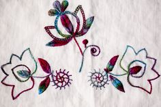 "Hungarian Embroidery textured - The sweet floral designs of the ""Bewitching Botanicals"" embroidery pattern set were inspired by the colorful embroidery of Central. Hungarian Embroidery, Folk Embroidery, Learn Embroidery, Floral Embroidery, Beginner Embroidery, Butterfly Embroidery, Shirt Embroidery, Modern Embroidery, Chain Stitch Embroidery"