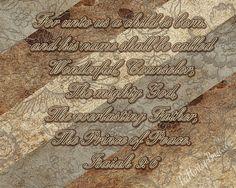Isaiah 9:6 Isaiah TheHeritageBride.com