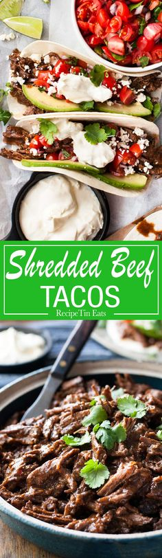 This has become a family favourite, I have a stack of serving size bags in the freezer! Love that the beef is cooked in the sauce for the tacos.